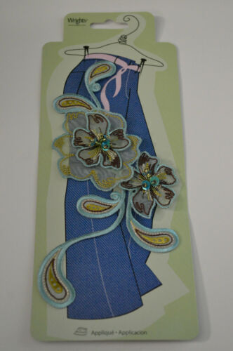 Applique Iron On Embroidered Organza Flowers for Jeans or Pants