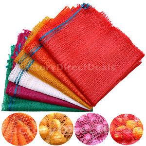 100 NET SACKS WOVEN MESH BAGS VEGETABLES LOGS KINDLING WOOD LOG 50x 81cm -30 kg