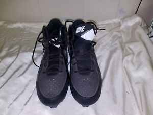 Nike 2010 Mens Sneakers Max Air Hyperfuse Size 13 Basketball Shoes Black-Blue