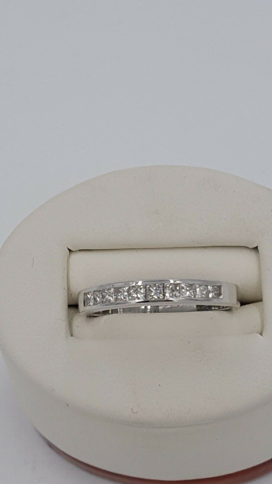 0.50 CARAT PRINCESS CUT SET DIAMOND RING H COLOR SI1 CLARITY 14KT WHITE gold