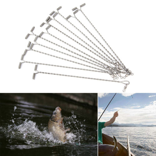 20XOcean Fishing Rigs Haken Arms Connector Feder T-Form Twisted String Haken ZP