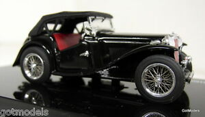 Vitesse-1-43-Scale-29160-MG-TC-Black-hood-up-diecast-model-car
