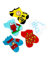 Charles Shultz Peanuts Ped Sock Set Great Graphics (you Get All 5 Pairs)