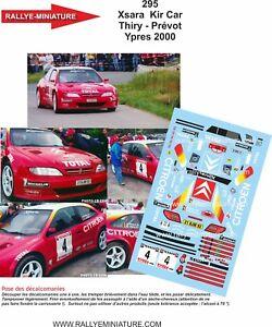 DECALS 1//43 REF 1718 RENAULT MEGANE MAXI KIT CAR MUNSTER YPRES RALLY 1997 RALLYE