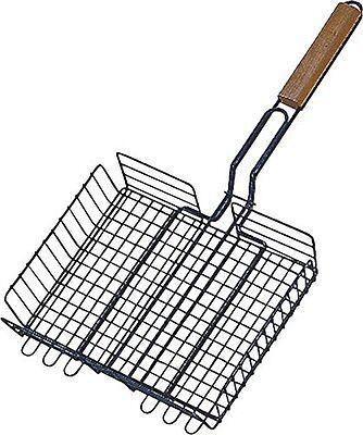 TOOLBASIX SHD129983L Broiler Basket Wood Handle