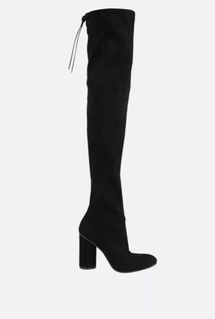 The Knee Boots Tall Black Suede