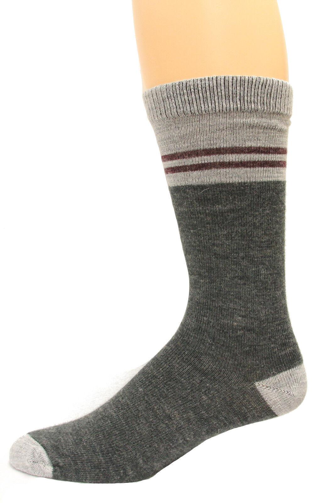 Wise Blend Men's Pinstripe Crew Socks, 1 Pair, Medium, Shoe Size M 9-13 (778)