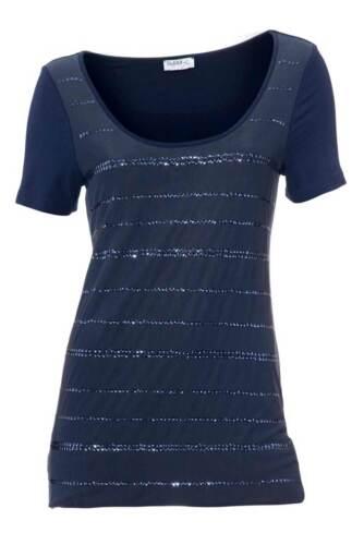 CLASS INTERNATIONAL FX Bodyform Shirt 40 marine bleu avec paillettes NEUF
