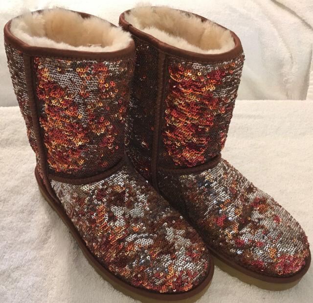ugg australia classic short sparkles womens boots autumn brown 10 ebay rh ebay com