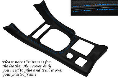 BLUE STITCH GEAR SURROUND LEATHER SKIN COVER FITS MITSUBISHI GTO 3000GT 92-99