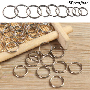 Steel-Alloy-Key-Hooks-Keychain-Ring-Pendant-Gadget-Keyring-Circle-Loop