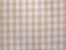 Stoff Baumwolle ♥ kariert Patchwork Baumwolle beige Karo ♥ vichy 0,25