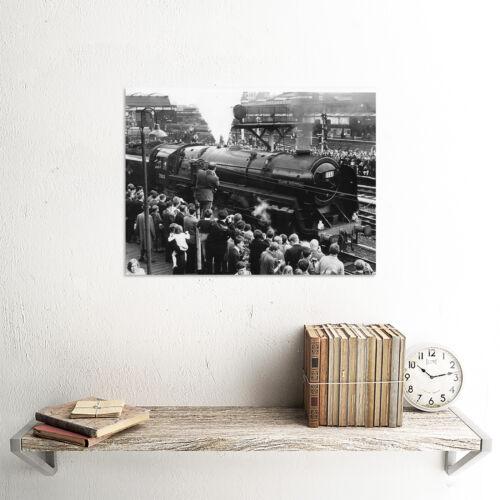 PHOTOGRAPH LOCOMOTIVE TRAIN STEAM OLIVER CROMWELL ENGINE ART PRINT POSTER CC1487