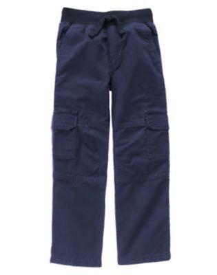 NWT Boy/'s Gymboree Grizzly Ridge navy blue elastic go cargo pants ~ 5 6
