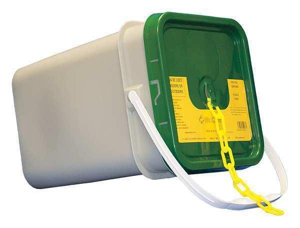 Mr. cadena 30002-P 1.5  ( 6, 38 mm.) X 300 pies. Amarillo Cadena de plástico
