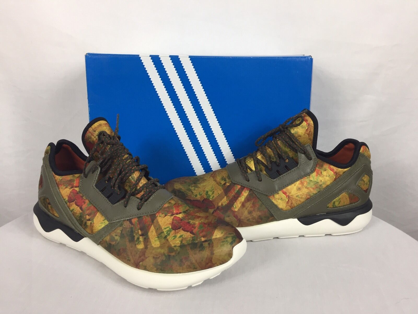 "NEW  Men's Adidas Tubular Runner ""Leaf Camo"" Size 10 With Box"