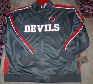 huge discount 68f8c 1c897 Details about NEW NHL New Jersey Devils Full Zip Track Reflective Jacket  Coat BIG 5XL NEW NWT