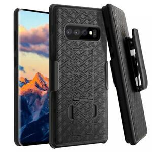 SAMSUNG GALAXY S10+ PLUS - ARMOR CASE SWIVEL BELT CLIP HOLSTER COVER DEFENDER