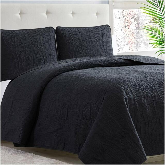 Mellanni Bedspread Coverlet Set Oversized 3 Piece Quality Comforter Quilt Set
