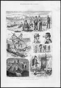 1881-Antique-Print-LONDON-WIMBLEDON-Military-Rifle-Meeting-227
