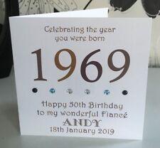 50th 1969 Year You Were Born Birthday Card Personalised Dad Husband Son