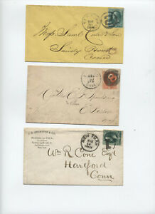 Group-of-3-number-cancels-on-banknote-covers-NY-Boston-y4604