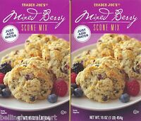 Trader Joe's Mixed Berry Scone Mix, 2 Boxes Just Add Water Shipping Fast Free