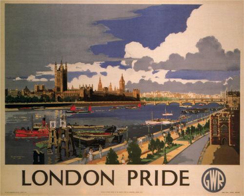 LONDON PRIDE Frank Mason United Kingdom 1946 Vintage Ad style poster print