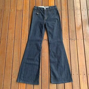 New-W-Tags-Country-Road-Size-4-High-Waist-Flare-Jeans-Dark-RRP-129