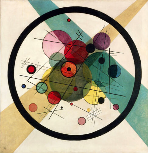 VASSILY KANDINSKY CIRCLES WITHIN A CIRCLE ABSTRACT ART GICLEE PRINT FINE CANVAS