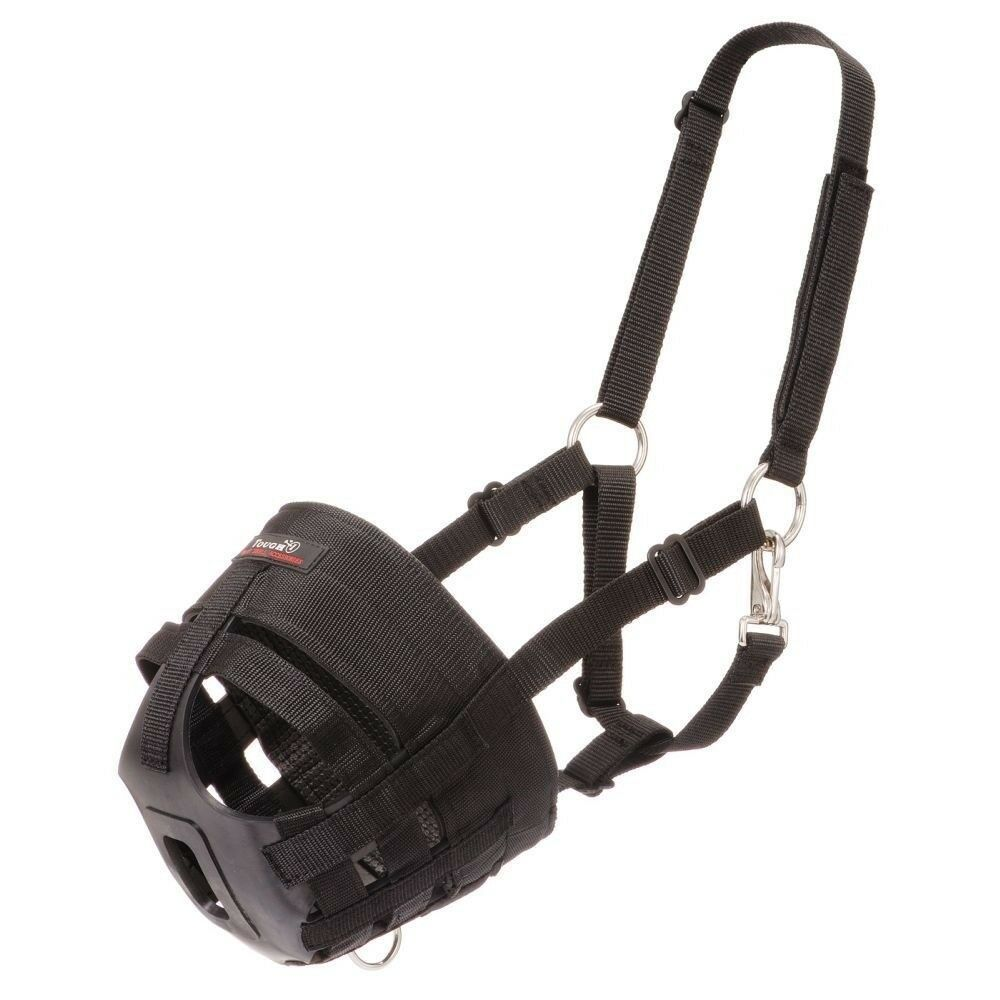 Tough-1 Easy Breathe Poly Nylon Grazing Muzzle with Halter and Large Hole
