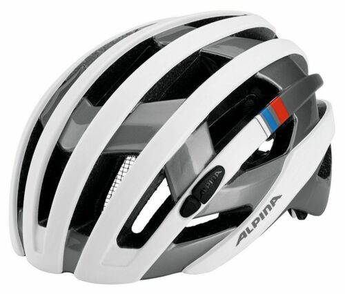 Alpina Campiglio Fahrrad Helm Bike Radhelm Scooter white-silver blue-red