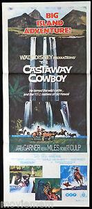 CASTAWAY-COWBOY-James-Garner-Disney-VINTAGE-Original-Daybill-Movie-Poster