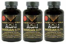 3 Absonutrix Acai Burn with Garcinia Cambogia green tea weightloss fat burner