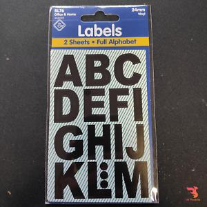 Vinyl Numbers Black Stickers 24mm by Esposti