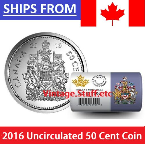 ** IN HAND ** 2016 Canada Half Dollar 50 Cent Coin Uncirculated Mint State MS **