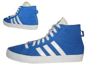 Adidas-Honey-Mid-Damen-Maedchen-Sneakers-Freizeitschuhe-Wildleder-blau-Gr-36