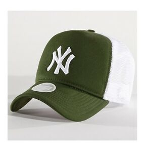 NEW ERA WMNS LEAGUE ESSENTIAL TRUCKER CAP NEW YORK YANKEES NY CAP ... 8b2c4f45ee1