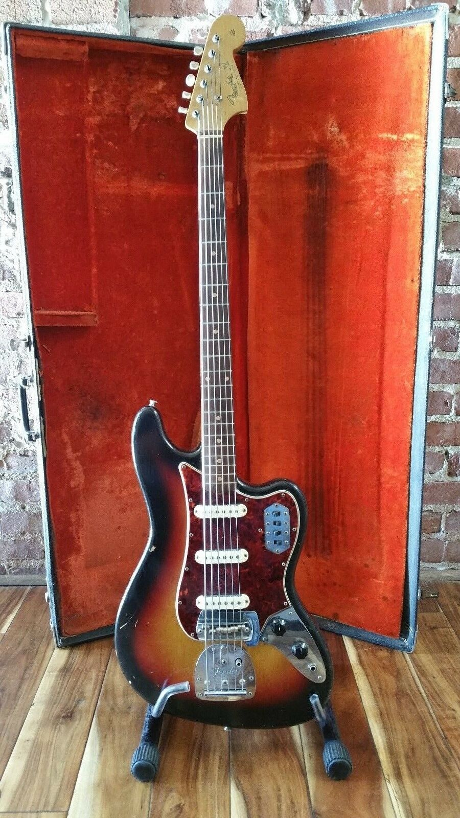 1964 Fender Bass VI Electric Guitar with OHSC    100% Original