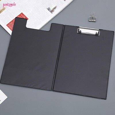 A4 FOLD OVER Clip board Document Holder Writing Clipboard Office Pad Hard Filing