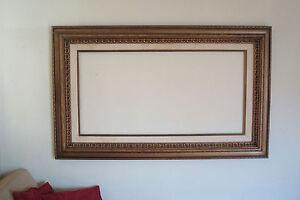 Large Vintage Picture Frame Fits 24 X 48 Ebay