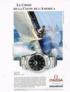 Publicité advertising 2002 La Montre Omega Seamster ...Coupe de l'America