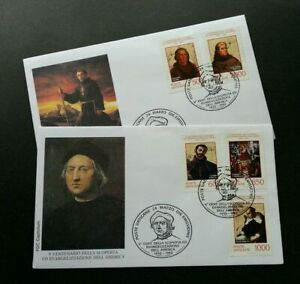 [SJ] Vatican 5th Centenary Of Discovery And Evangelization Of America 1992 (FDC