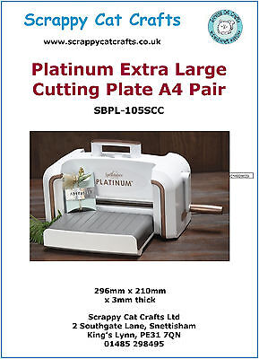 Platinum Extra Large A4 Cutting Plates, Pair by Scrappy Cat: SPA43P