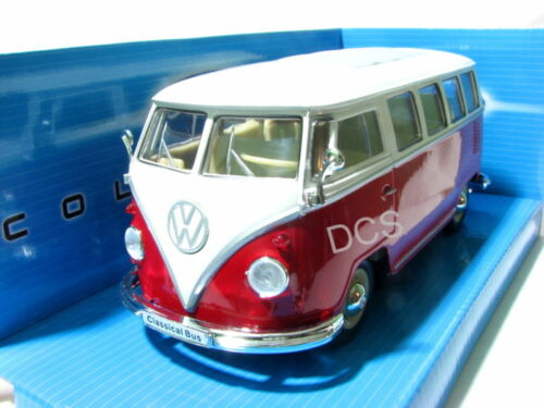 Welly 1962 VOLKSWAGEN CLASSICAL BUS RED 1//24 Diecast