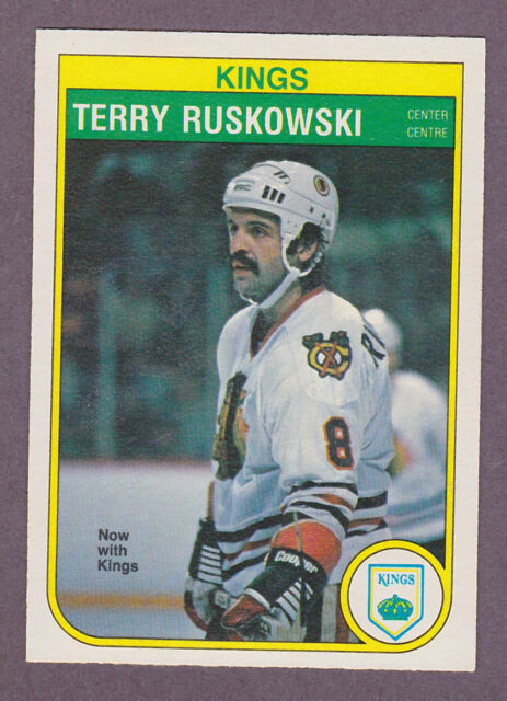 1982-83 OPC O-Pee-Chee Hockey Terry Ruskowski #72 LA Kings Black Hawks NM/MT