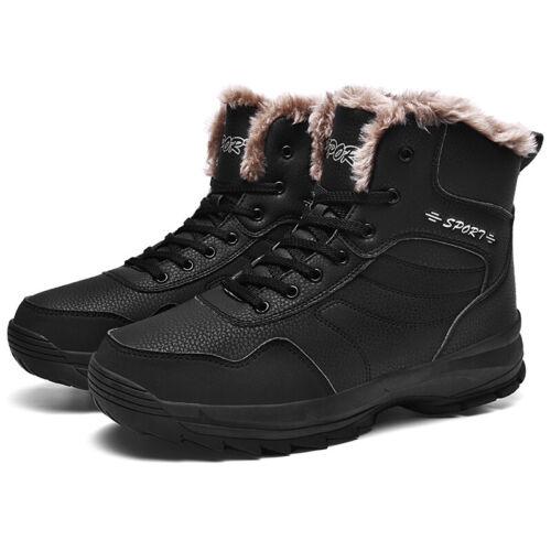 Men/'s Large Size Winter Snow Ankle Boots Shoes Fur Inside Warm Non-slip Outdoor