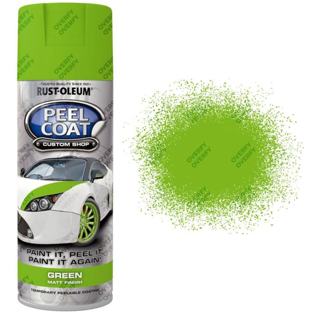 x3 Rust-Oleum Rubberised Peelable Aerosol Spray Paints Matt 400ml LIME GREEN