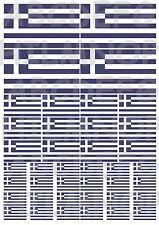 40 ADESIVI BANDIERA GRECIA GREECE FLAG AUTO IMPERMEABILI MOTO STICKERS VINILE