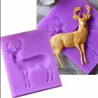 3D Buck Deer Elk Shape Fondant Mould Cake Decor Sugar Chocolate Mold Silicone